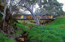 Railroad Homes - The Bridge House is Nestled in the Trees of Rural Austrailia