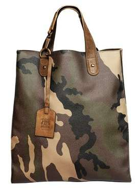 Trussardi 1911 Mans Up With Camo Print Man Totes