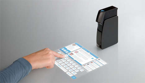 Screenless Touch Screens - Light Blue Optics Pico Projector Puts  Touchscreens Anywhere