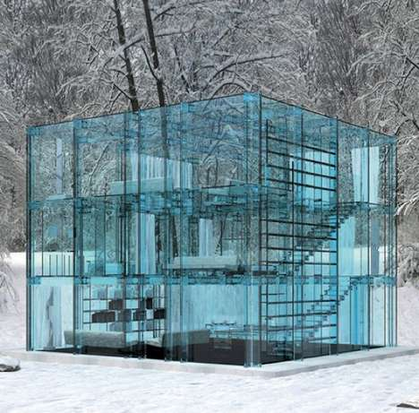 Transparent Homes - This Concept House is Made Completely from Glass