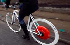 Kinetic Bike Wheel Technology - Copenhagen Wheel Transforms Regular Bicycles into Hybrids