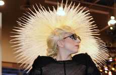 Starburst Hair - Lady Gaga's Super-Sized Hair Hat Stole the Show at CES 2010