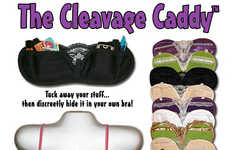 In-Bra Storage - The Cleavage Caddy Keeps All Your Stuff Handy