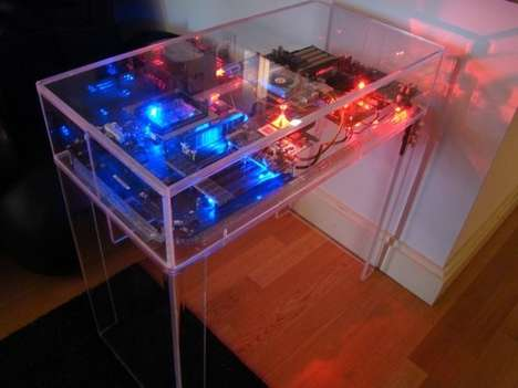 A Computer Converted into a Partytastic Countertop