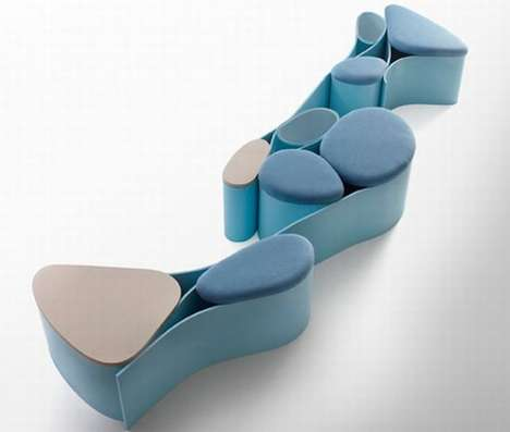 Abstract Smurf Seating