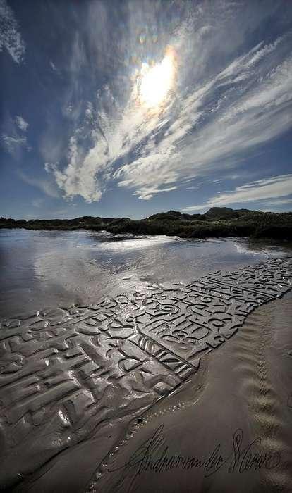 African Beach Calligraphy