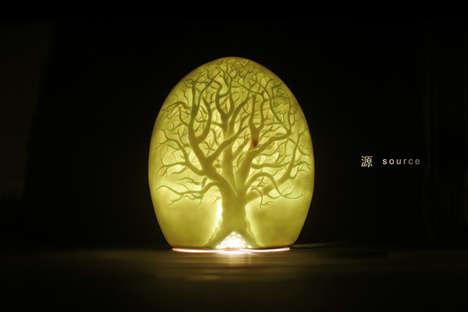 Illuminated Tree Orbs