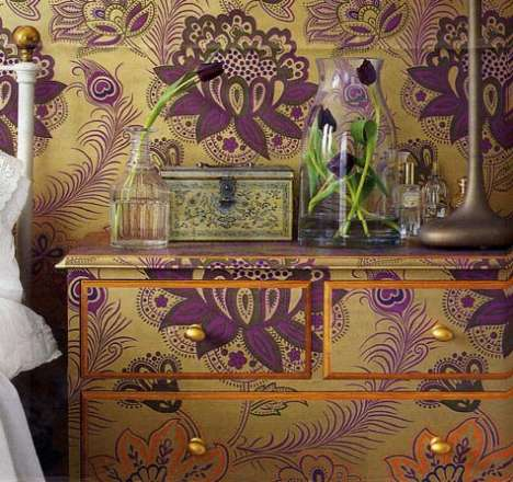 Wallpapered Furniture