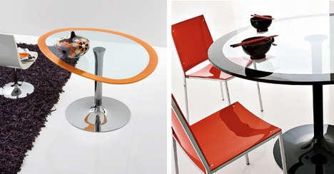 Orange Oblong Tables