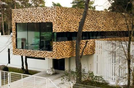 The Suurupi House Extension Resembles Woven Wood