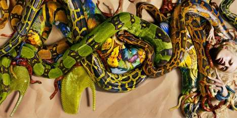Jungle Snake Fashion - Alexander McQueen Spring/Summer ad With Raquel Zimmermann