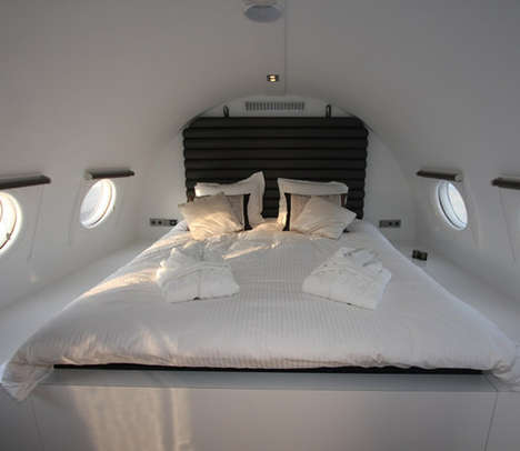 Recycled Airplane Hotel Suites