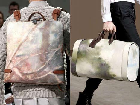 Paint-Splattered Backpacks