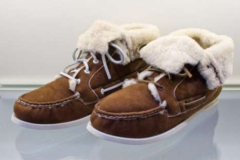 Furry Boat Shoes