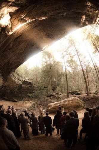 Rustic Cave Nuptuals
