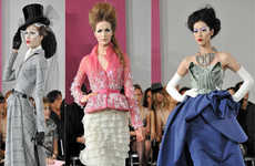 Romantic Equestrian Fashions - The Dior Spring Couture 2010 Line is Fit for Royalty