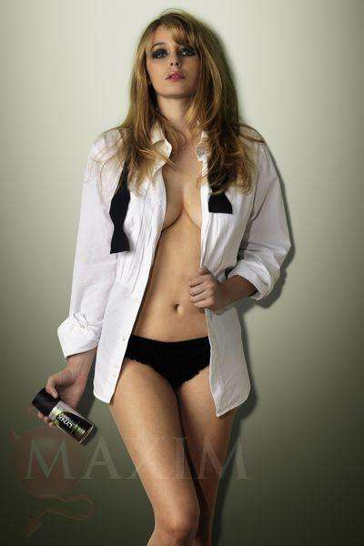 Glamor Deo Spreads - Keeley Hazell Photoshoot in Maxim Includes Lynx Twist