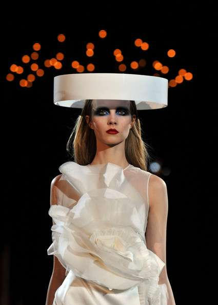 UFO- Style Headpieces - Givenchy Haute Couture Spring/Summer is Alien Envious