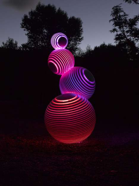 Glowing Spherical Installations