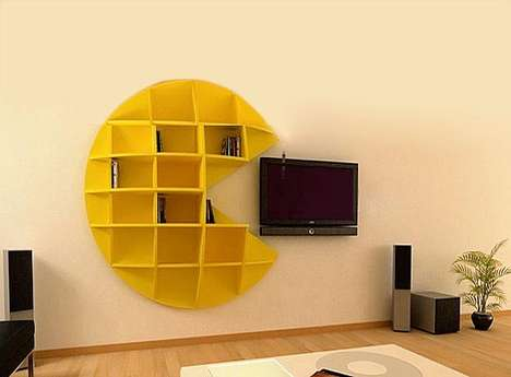 The Puckman Bookcase Will Gobble Up Your TV