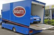 Supercar Truck Garages - The Bugatti Veyron Comes With Its Own Transport Truck