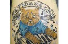 Internet Meme Tattoos - Keyboard Cat and Fail Whale Ink Prove Geeks Can Bear Brutal Tattoos Too