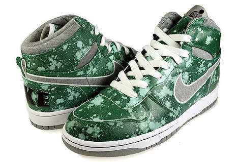 The Nike Green Splatter Kicks Take Inspiration From Pollock