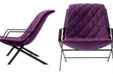 Quilted Purple Seats - The Samoa Lounge Chair Looks Mighty Comfy