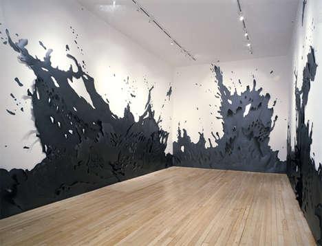Paper Splatter Sculptures