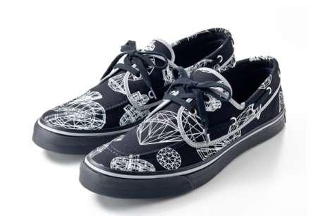 Diamond-Adorning Footwear