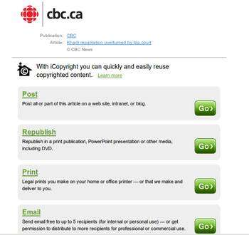 Canadian Copyright Crackdowns