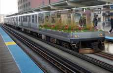 Transit Greenery - The Mobile Garden by Joe Baldwin Sweetens Chicago Air