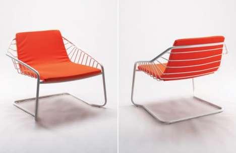 Ribbed Tangerine Seating