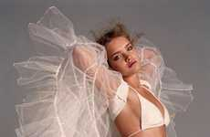 Tutu Wings - Natalia Vodianova Looks Angelic as She Flies Away in Fabric