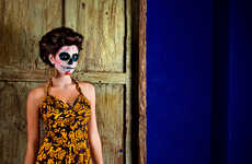 Day of the Dead Fashiontography - 'Pulque a La Mode' by Nydia Lilian & Vanilka Uses Skull-Faced Mode
