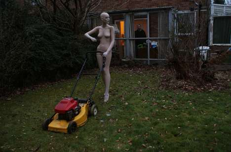 'Behind the Scenes' by Laus Kesseler Shows Mannequins Doing Housework