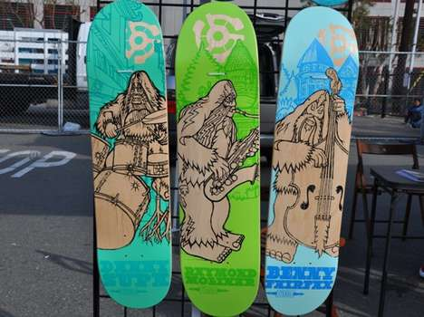 Super Sasquatch Skateboards - Bigfoot and Stereo Unveil Sweet New Skate Decks
