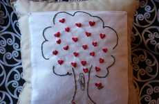 "Valentine's Day Pillows - WalktheTalk Cushion Proclaims ""I Love You"" to Your Sweetheart"