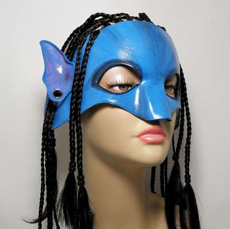 'Avatar' Masks - FantasiesInLeather Na'vi Omaticaya Leather Mask Lets You Pretend You're in Pandora