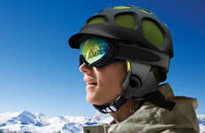 Tortoiseshell Snow Helmets - Notion Design Studio Introduces the Air Helmet
