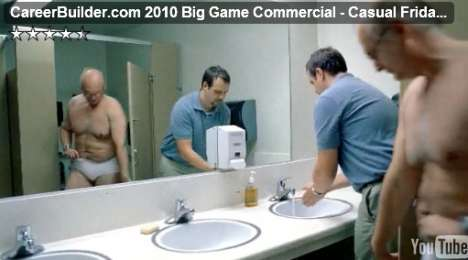 Working in Underwear - The CareerBuilder Super Bowl Ad Takes on 'Pants to the Ground'
