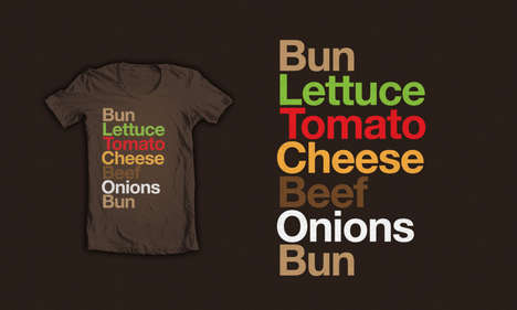 Junkfood Typography - Burgervetica is a Typographic Cheeseburger