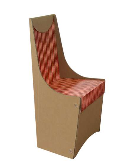 Patterned Cardboard Furniture