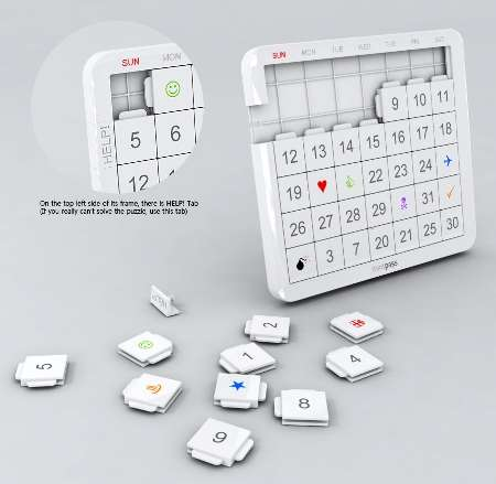 Puzzling Date Reminders - The Mint Calendar Comes in the Form of 41 Puzzle Pieces