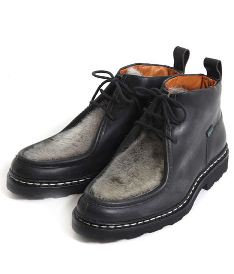 Furry-Toed Boots - Mucy Boots by Paraboots Have Fur Detailing