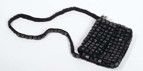 Typing Messenger Bags - The Keyboard Purse Will Appeal to Eco-Conscious Writers