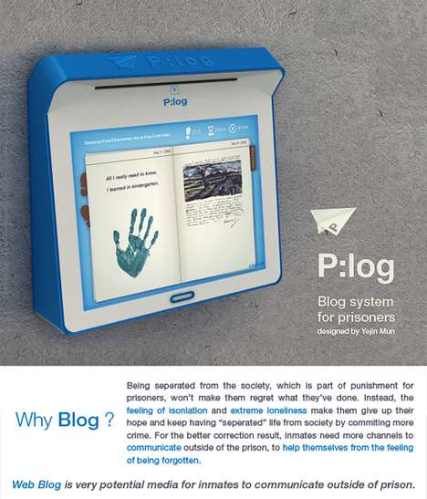 Prisoner Blogs  - The P:Log Journal Scanning Device Allows Inmates to Post Online