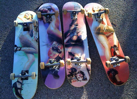 Scantily-Clad Skateboards