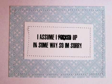Ambivalent Apology Notes