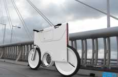Flat-Pack Battery Bikes - Electric Bike Concept by Yuji Fujimura Even Has a Space for Laptops